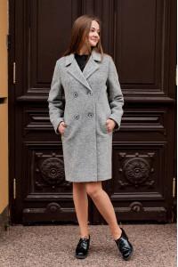 Женское пальто «Астер» серого цвета