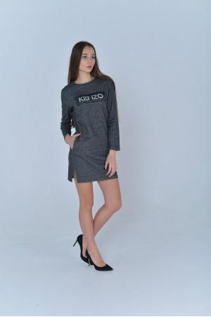 Платье «Кензо» серого цвета