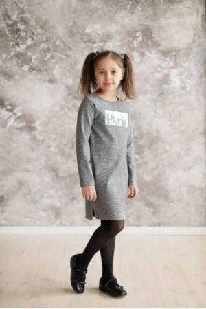 Платье «Парис» серого цвета