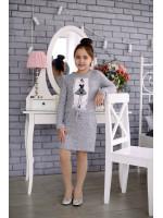 Сукня «Кокетка» сірого кольору