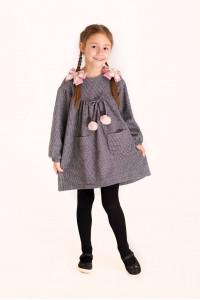 Платье «Милля» серого цвета