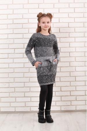 Платье «Маня» серого цвета