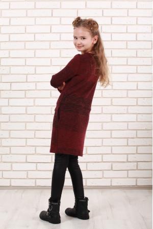 Платье «Маня» бордового цвета