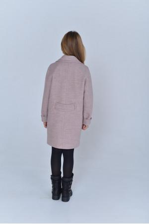 Дитяче пальто «Акіто» кольору пудри