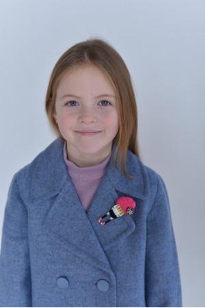 Дитяче пальто «Акіто» синього кольору