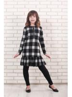 Платье «Маруся» черно-белого цвета