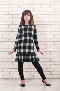 Сукня «Маруся» чорно-білого кольору