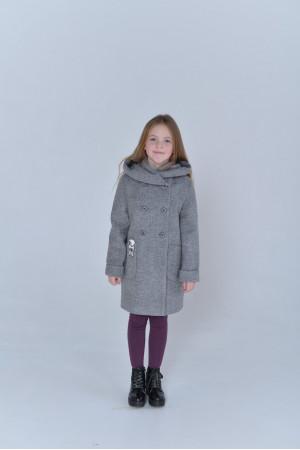 Детское пальто «Габи» серого цвета