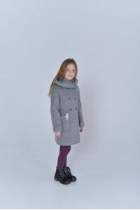 Дитяче пальто «Габі» сірого кольору