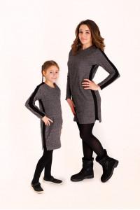 Сукня «Доліс» світла з чорною смужкою