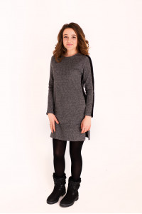 Сукня «Доліс» сіра з чорною смужкою