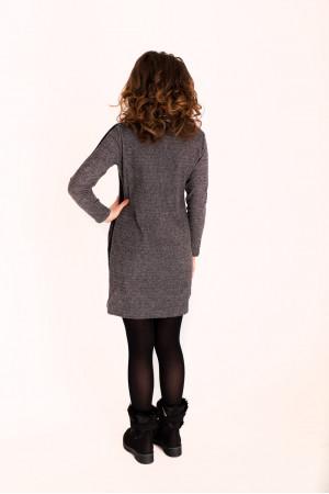 Платье «Долис» светлое с черной полосой