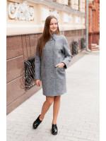 Жіноче пальто «Джані» сірого кольору