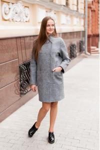Женское пальто «Джани» серого цвета