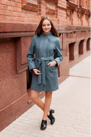 Жіноче пальто «Джані» кольору полину