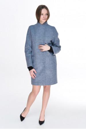 Жіноче пальто «Джані» сіро-блакитного кольору
