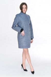 Женское пальто «Джани» серо-голубого цвета
