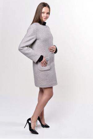 Жіноче пальто «Карно» сірого кольору