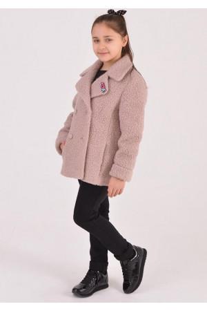 Дитяче пальто «Графі» кольору пудри