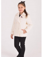 Дитяче пальто «Графі» білого кольору