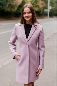 Женское пальто «Филд» сиреневого цвета