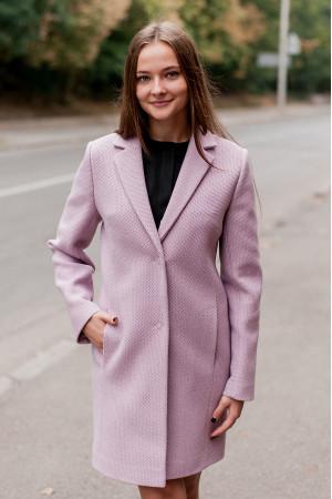 Жіноче пальто «Філд» бузкового кольору