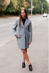 Жіноче пальто «Філд» сірого кольору
