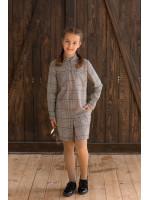 Платье «Киана» в коричневую клетку