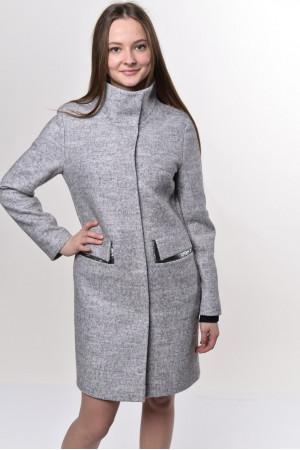 Жіноче пальто «Адора» світло-сірого кольору