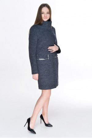Жіноче пальто «Адора» синього кольору
