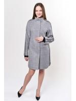 Жіноче пальто «Несса» сірого кольору
