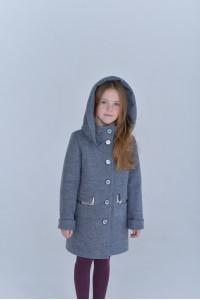 Дитяче пальто «Вайлет» сіро-блакитного кольору
