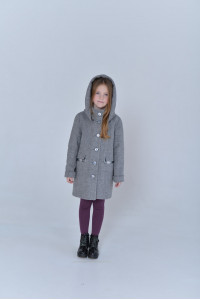 Дитяче пальто «Вайлет» сірого кольору