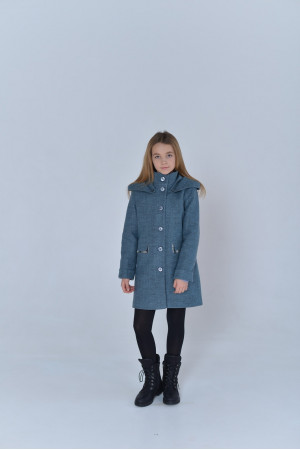 Детское пальто «Вайлет» цвета полыни