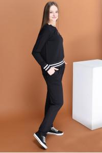 Брючный костюм «Кирби» черного цвета