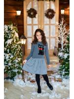 Платье «Котик» серого цвета