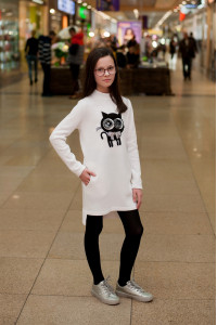 Сукня «Киця» білого кольору