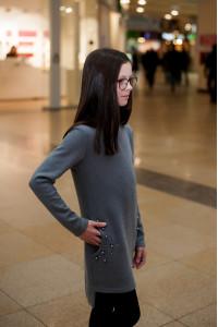Платье «Трийса» серого цвета