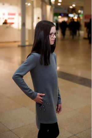 Сукня «Трійса» сірого кольору
