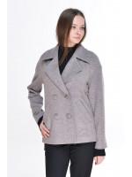 Жіноче пальто «Тамір» сіро-бежевого кольору