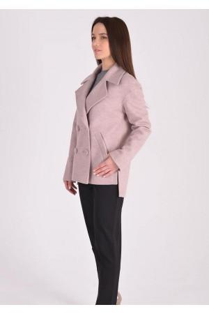 Жіноче пальто «Тріора» кольору пудри