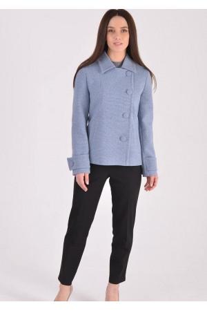 Жіноче пальто «Тріора» сіро-блакитного кольору