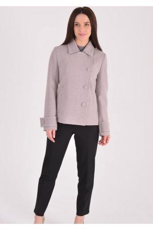 Жіноче пальто «Тріора» сіро-бежевого кольору