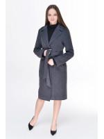 Женское пальто «Брисса» темно-серого цвета