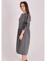 Платье «Шонен» серого цвета