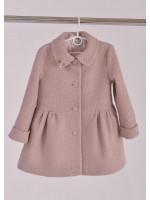 Дитяче пальто «Поппі» кольору пудри