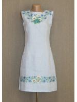 Платье «Ромашки» голубого цвета