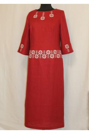 Платье «Северное сияние» бордового цвета