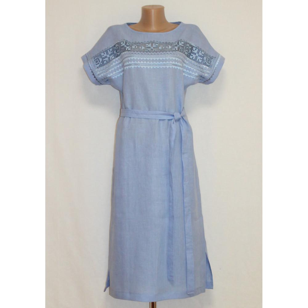 Сукня «Мережка» блакитного кольору e414ea1652b57