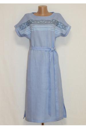 Сукня «Мережка» блакитного кольору